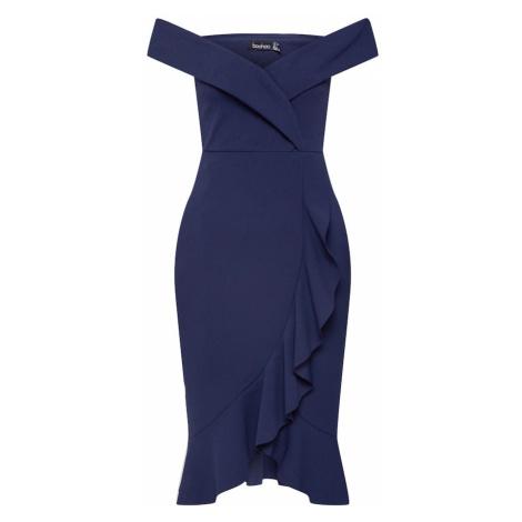Boohoo Sukienka koktajlowa niebieski