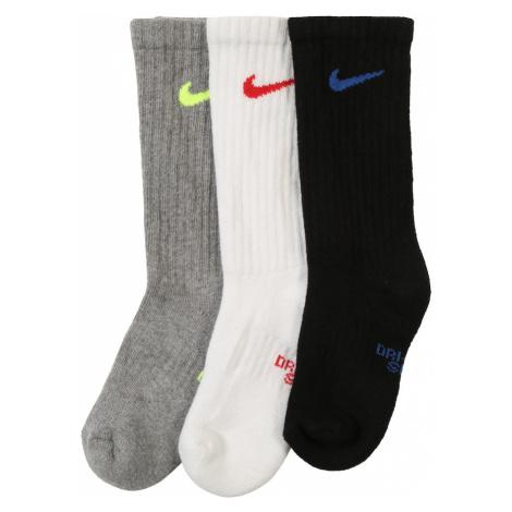 NIKE Skarpetki sportowe 'Cushioned Crew Training Socks (3 Pair)' biały / szary / czarny