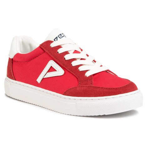 Sneakersy PEPE JEANS - Adams Archive Boys PBS30434 Red 255