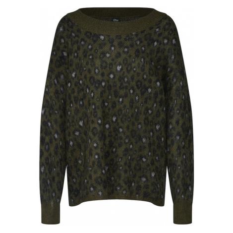 S.Oliver BLACK LABEL Sweter ciemnozielony / czarny