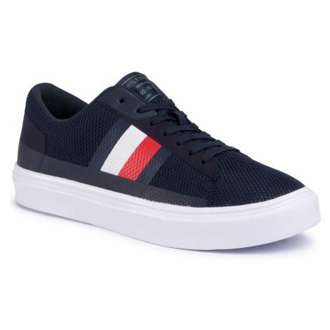 Sneakersy TOMMY HILFIGER - Lightweight Stripes Knit FM0FM02689 Desert Sky DW5