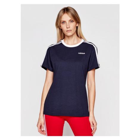 Adidas T-Shirt Essentials FN5778 Granatowy Boyfriend Fit