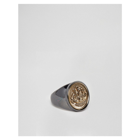 Icon Brand half penny signet ring in multi