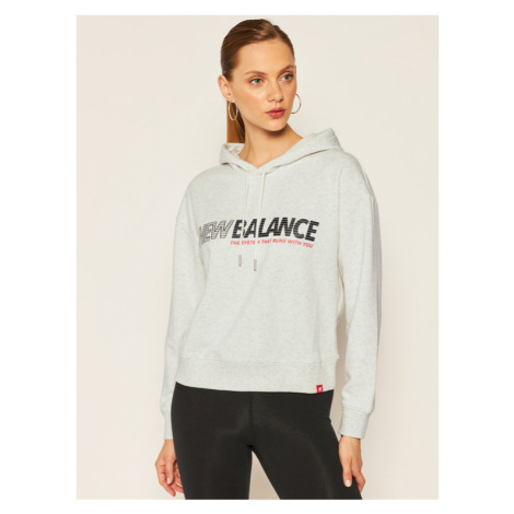 New Balance Bluza Essentials Speed WT03508 Szary Relaxed Fit