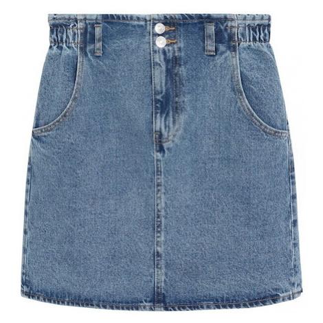 MANGO Spódnica 'Paperbag' niebieski denim