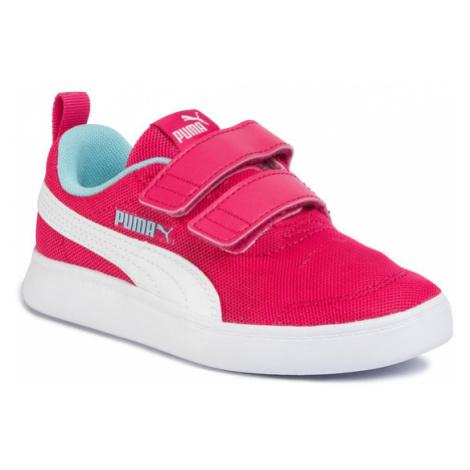 Puma Sneakersy Courtflex v2 Mesh V PS 37175802 Różowy