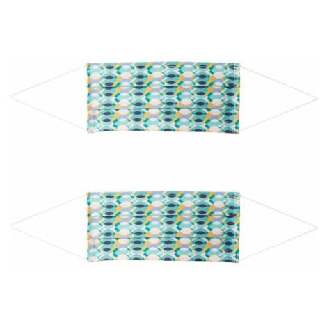 Zwillingsherz Maska z materiału '2er Pack Retro' mieszane kolory