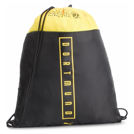 Plecak PUMA - Bvb Fan Gym Sack 075977 01 Puma Black/Cyber Yellow