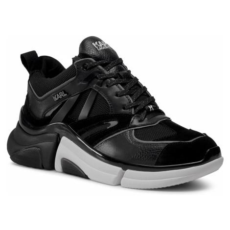Sneakersy KARL LAGERFELD - KL51737 Black Lthr/Textile