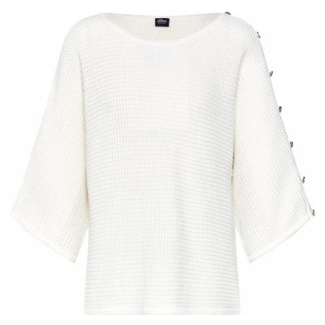 S.Oliver BLACK LABEL Sweter oversize perłowo biały