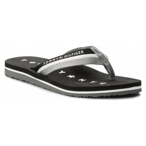 Japonki TOMMY HILFIGER - Tommy Loves Ny Beach Sandal FW0FW02370 Black 990