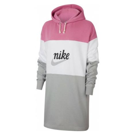 Nike NSW VRSTY HOODIE DRESS FT W czerwony XS - Sukienka damska