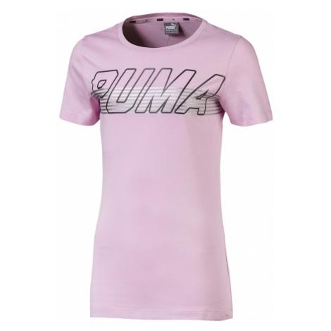 PUMA Koszulka 'Alpha Logo Tee G' różowy