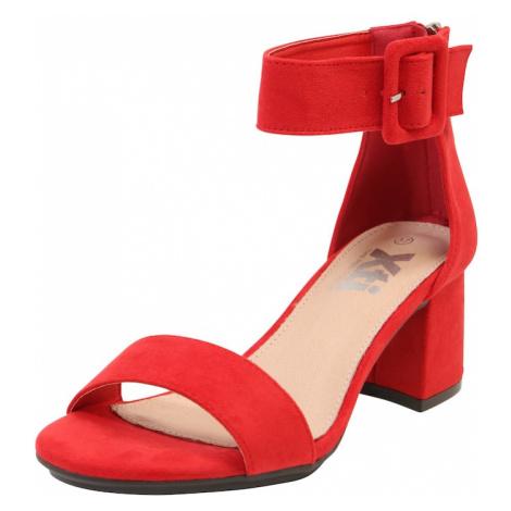 Xti Sandały z rzemykami czerwony