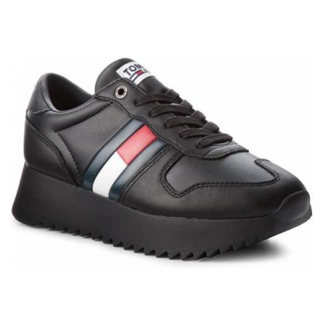 Tommy Jeans Sneakersy High Cleated Sneaker EN0EN00288 Czarny Tommy Hilfiger