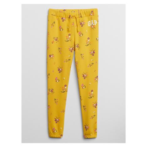 GAP żółte dziewczęce spodnie dresowe