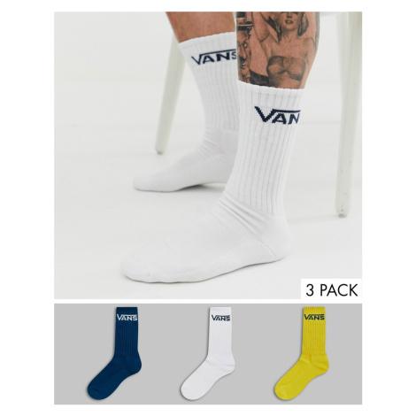 Vans 3 Pack crew socks in multi colour