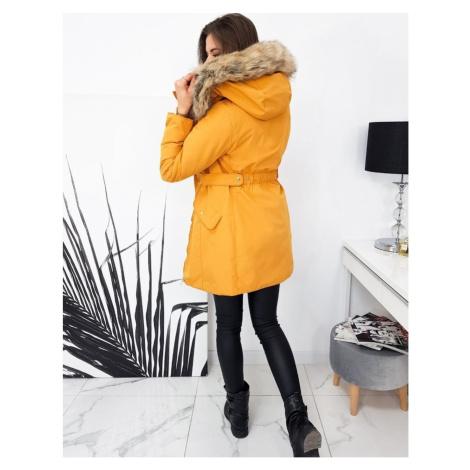 MIRGA yellow women's winter parka jacket TY1585 DStreet