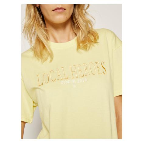 Local Heroes T-Shirt AW2021T0020 Żółty Regular Fit