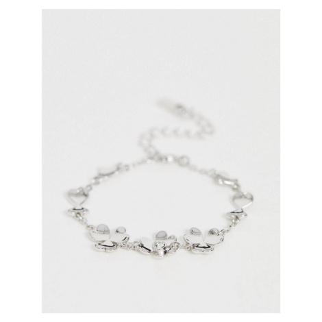 Ted Baker Hanaya heart flower bracelet in silver
