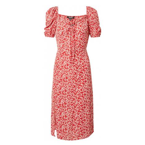 Missguided Letnia sukienka czerwony / biały