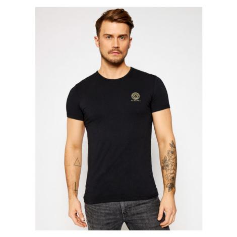 Versace T-Shirt Medusa AUU01005 Czarny Regular Fit