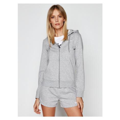 Adidas Bluza W Essentials PLN Fz Hd DU0664 Szary Regular Fit