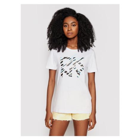 DKNY T-Shirt P0DBXCNA Biały Regular Fit