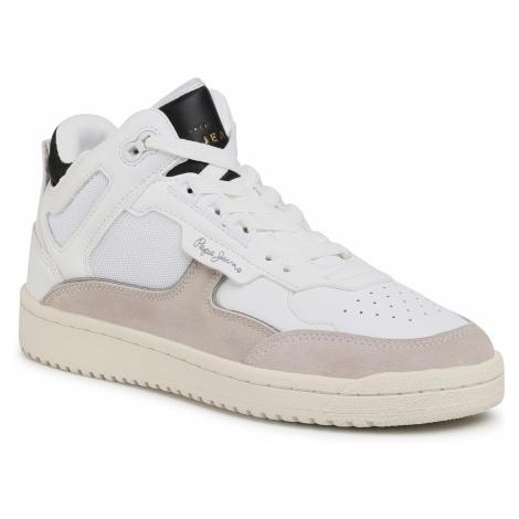 Sneakersy PEPE JEANS - Kurt Basket White PMS30683 White 800