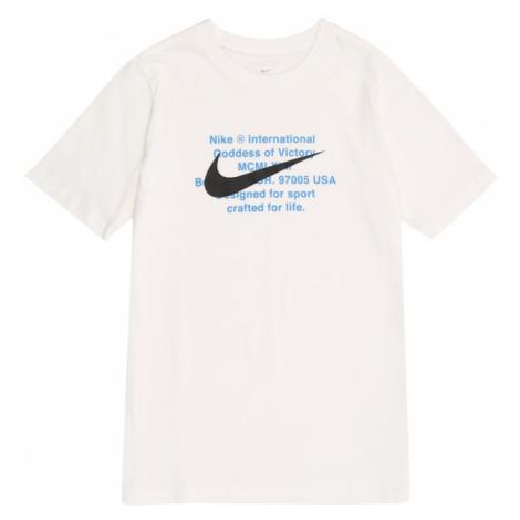 Nike Sportswear Koszulka niebieski / biały / czarny