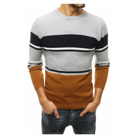 Męski jasnoszary sweter WX1684 DStreet