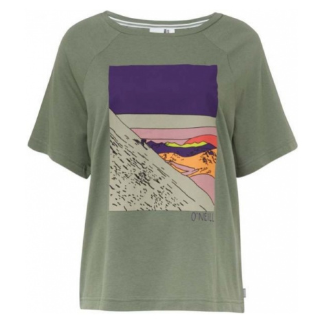 O'Neill LW AZURE T-SHIRT ciemnozielony XL - Koszulka damska