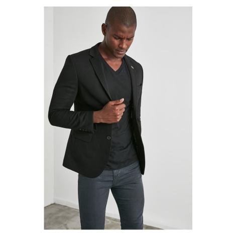 Trendyol Black Male Textured Slim Fit Jacket