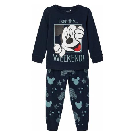 NAME IT Piżama jasnoczerwony / ciemny niebieski / błękitny