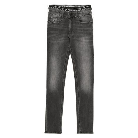 Calvin Klein Jeans Jeansy 'SKINNY INFINITE GREY STRETCH' szary denim
