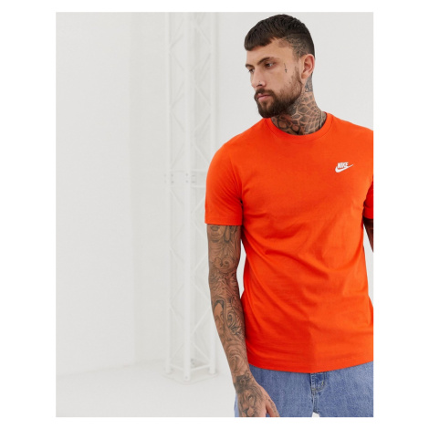 Nike Embroidered Futura T-Shirt In Orange