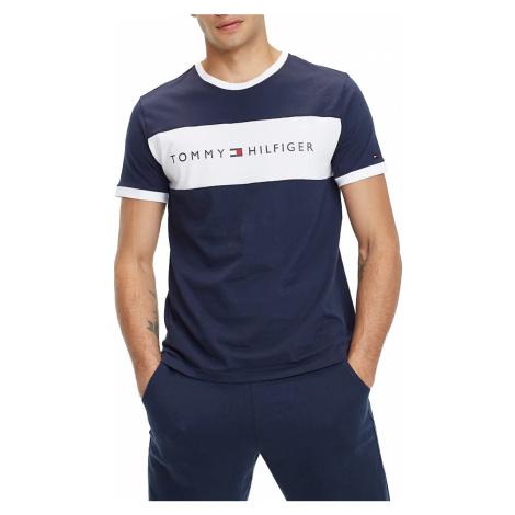 Tommy Hilfiger niebieska koszulka męska CN SS Tee Logo Flag
