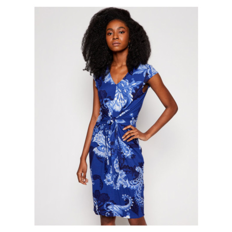 Desigual Sukienka codzienna Sibila 21SWVKB2 Niebieski Slim Fit