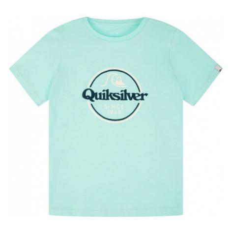 Quiksilver T-Shirt Words Remain EQBZT04142 Zielony Regular Fit