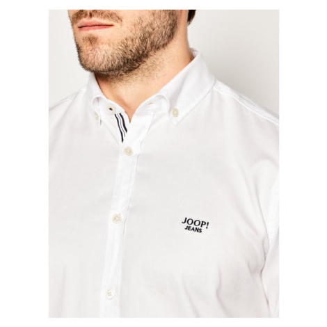 Joop! Jeans Koszula Haven 30011812 Biały Slim Fit