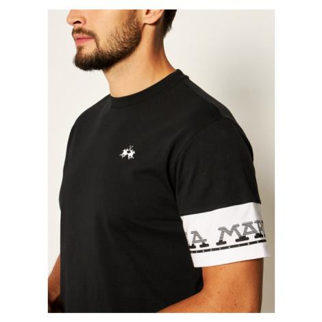 La Martina T-Shirt QMR301 JS206 Czarny Comfort Fit