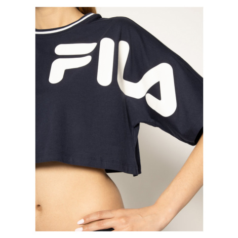 Fila T-Shirt Barr 687497 Granatowy Cropped Fit