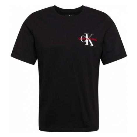 Calvin Klein Jeans Koszulka 'MONOGRAM EMBRO REG CHEST SS' czarny