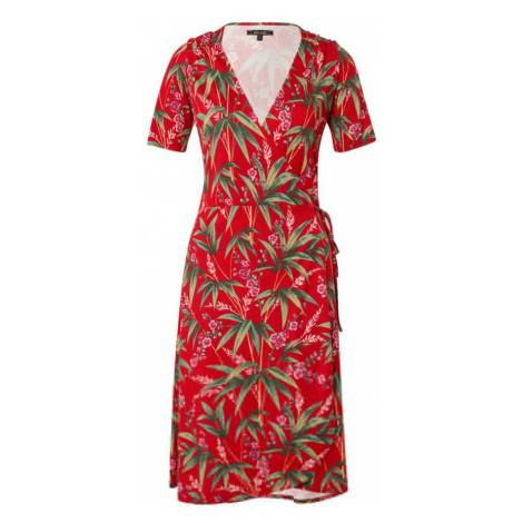 King Louie Sukienka 'Mandy Dress Tahiti' mieszane kolory / ognisto-czerwony / zielony
