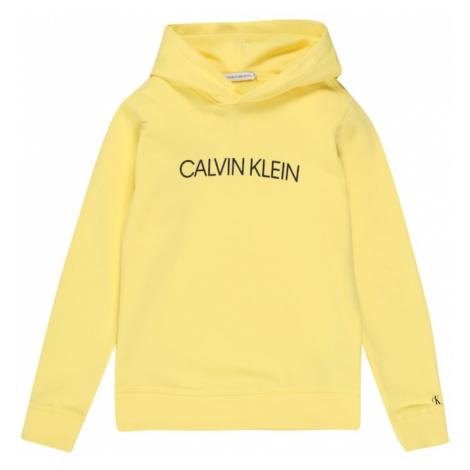Calvin Klein Jeans Bluza 'INSTITUTIONAL LOGO' żółty / czarny
