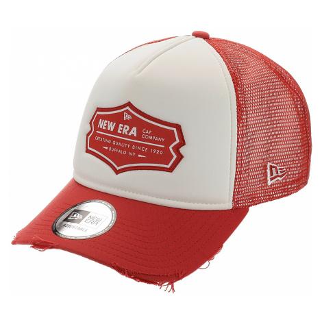 czapka z daszkiem New Era 9FO Aframe Patch Trucker - Faded Red/White