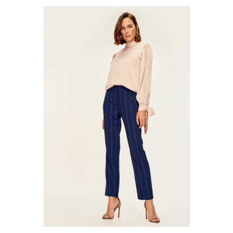 Trendyol Dark Blue Striped Trousers