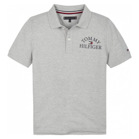 TOMMY HILFIGER Polo Essential Logo Chest KB0KB05666 Szary Regular Fit
