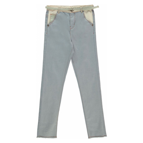 Szare dziewczęce jeansy