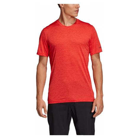 Koszulka adidas Terrex Tivid Tee M Czerwono-Koralowa